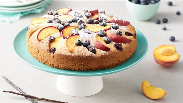 Ciasto borówkowo-brzoskwiniowe