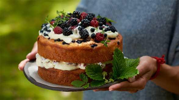 Tort jogurtowy z owocami leśnymi