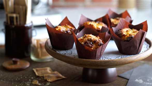 Muffiny jabłkowe z karmelem