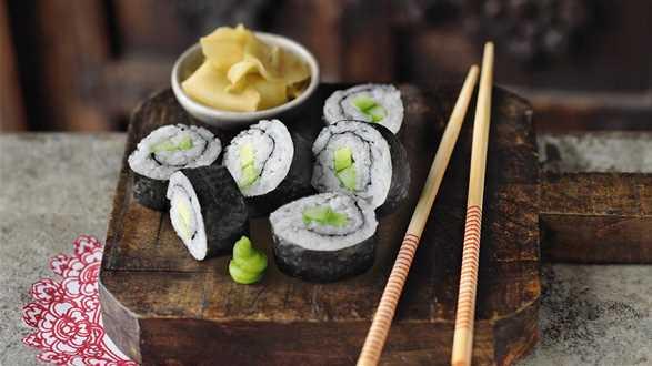 Wegetariańskie maki sushi