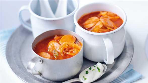 Zupa pomidorowa z kiszoną kapustą