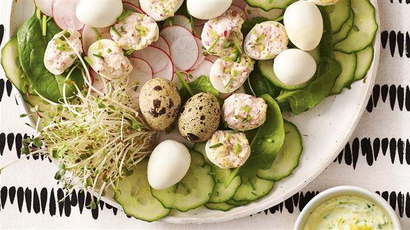Wiosenne jajka przepiórcze
