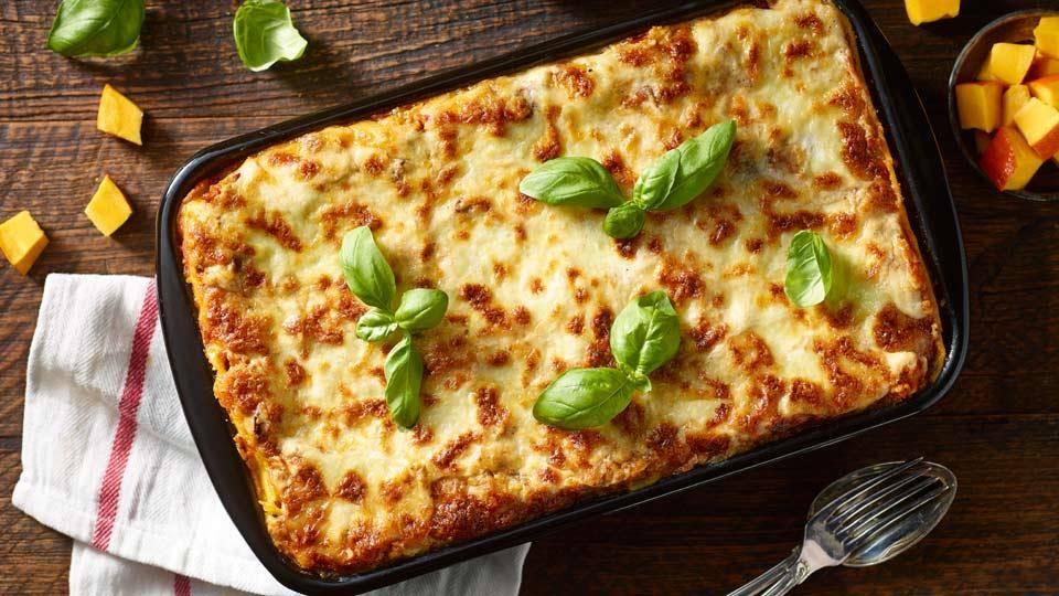 Lasagne Z Mozzarellą Dynią I Suszonymi Pomidorami