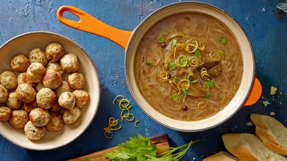 Zupa Cebulowa Z Pulpecikami Przepis Kuchnia Lidla