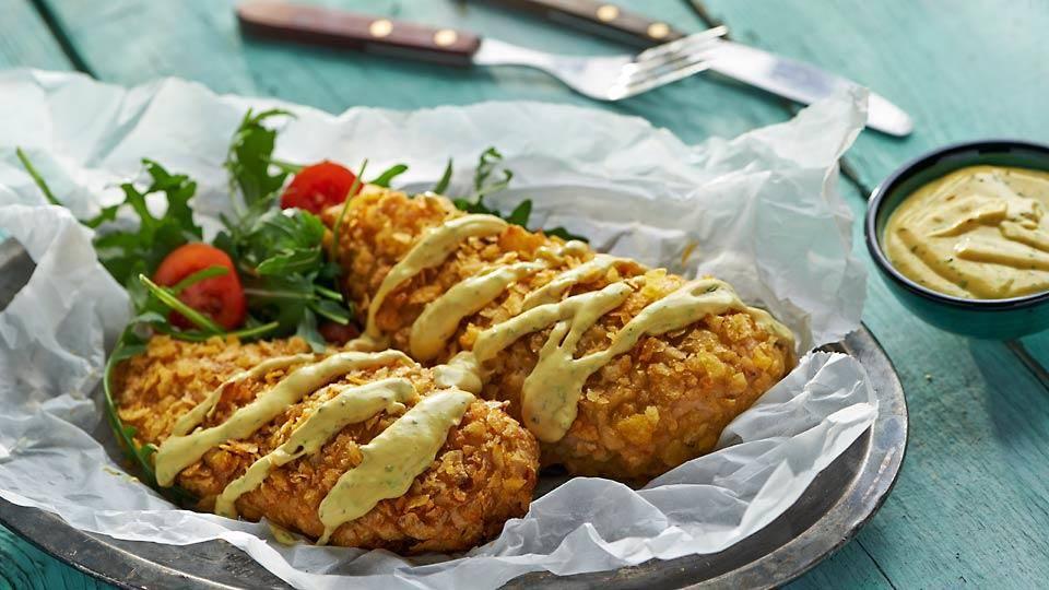Piersi Kurczaka W Chipsach Z Sosem Musztardowym Przepis Kuchnia
