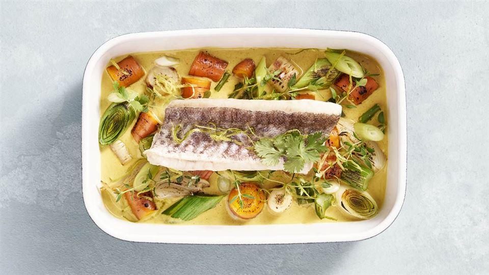 Pieczona Ryba Z Pikantnymi Warzywami Przepis Kuchnia Lidla