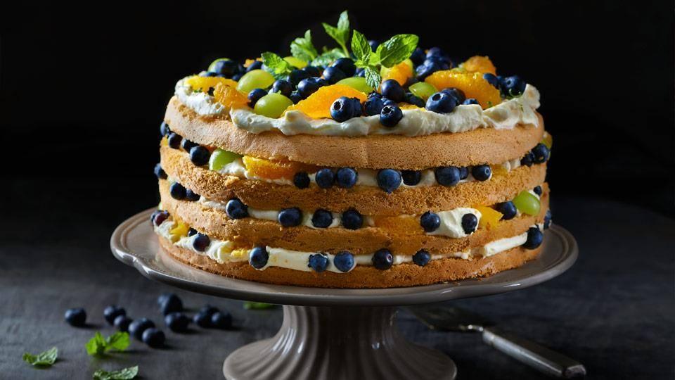 Tort Owocowy Z Bitą śmietaną Przepis Kuchnia Lidla