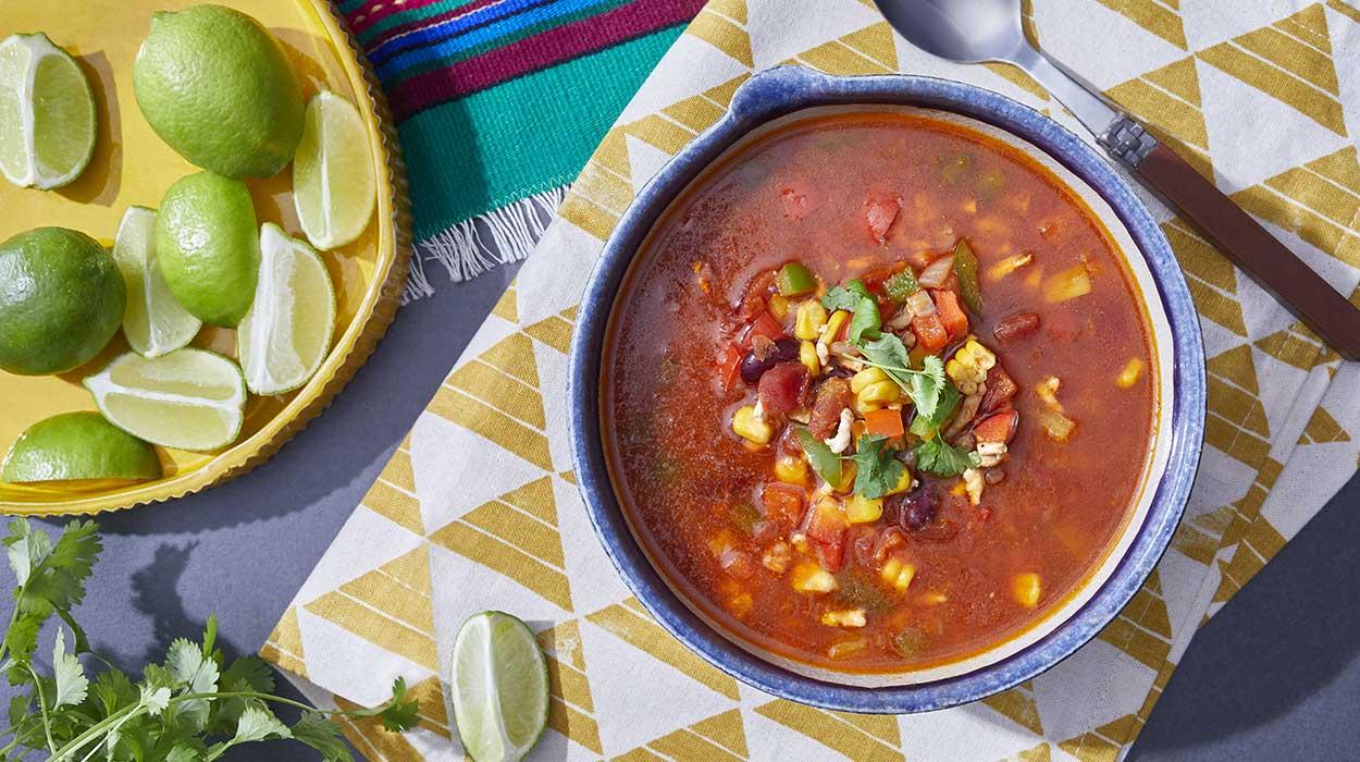 Zupa meksykańska z indykiem