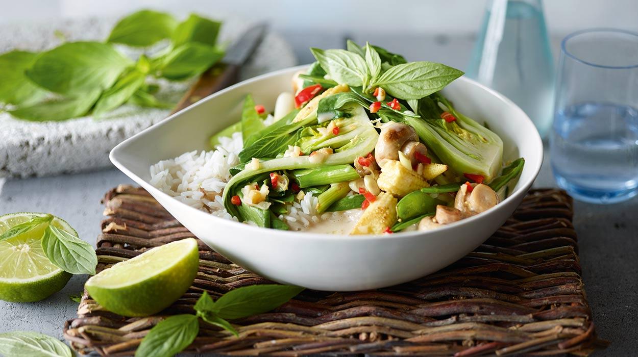 Warzywa stir-fry po tajsku