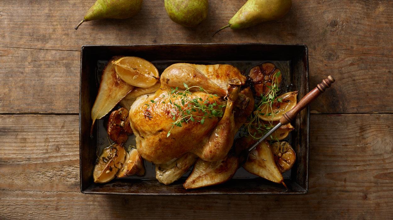 Kurczak z farszem orzechowym i śliwkami