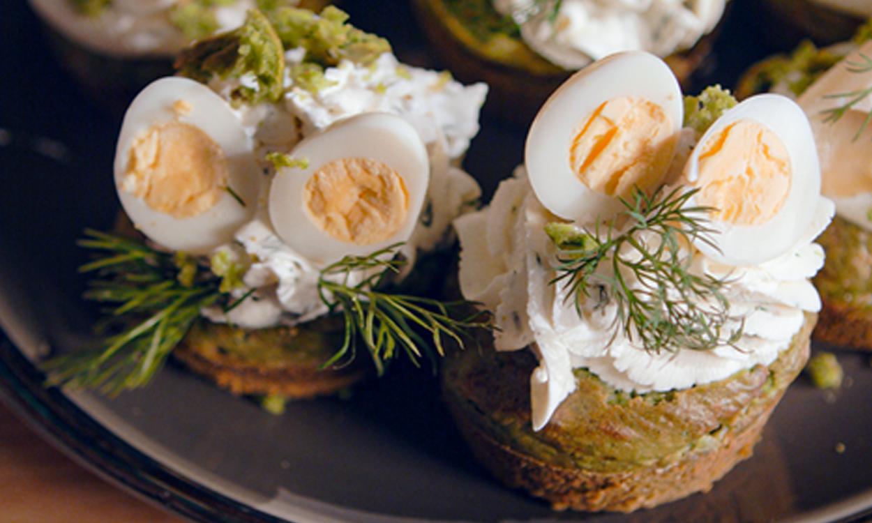 Wielkanocne babeczki śniadaniowe