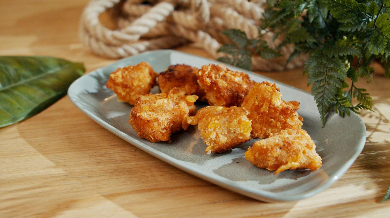 Wegańskie nuggetsy z jackfruita