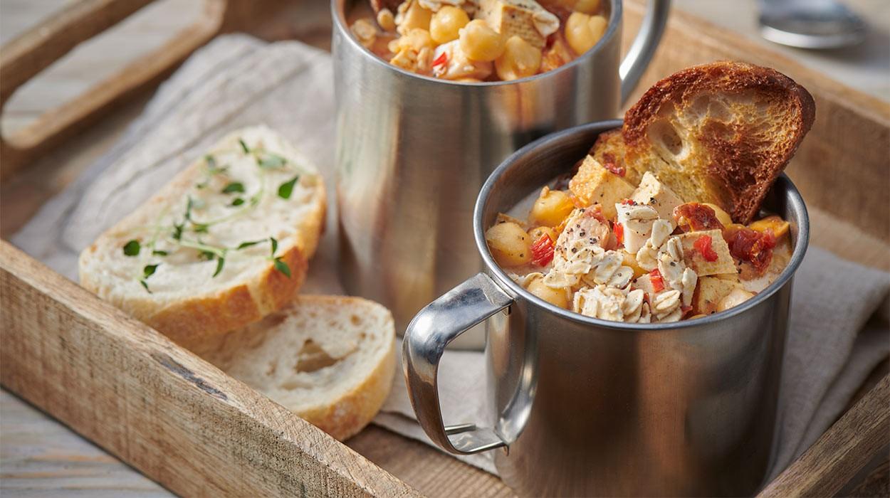 Szybka zupa z ciecierzycy
