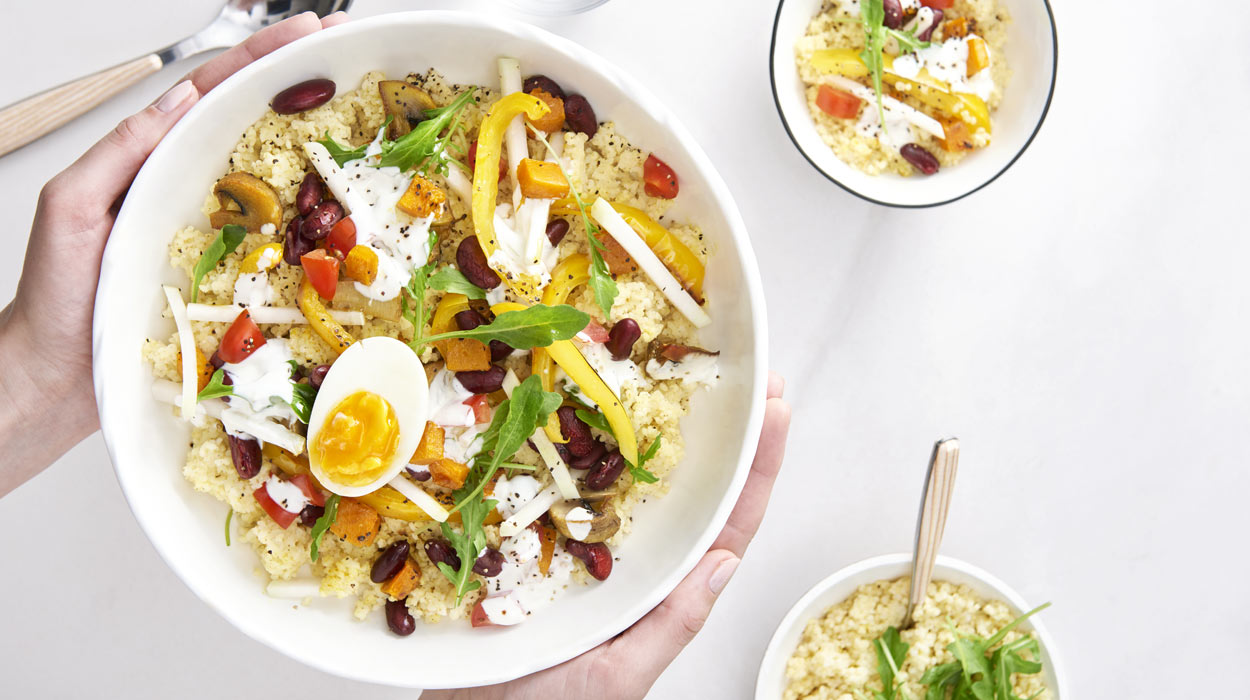 Śniadaniowy bowl z kaszą