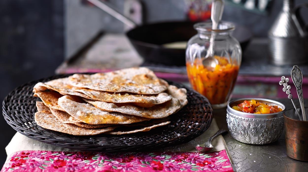 Indyjskie chlebki chapatti