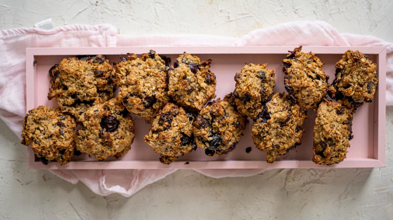 Wegańskie ciasteczka śniadaniowe bez cukru