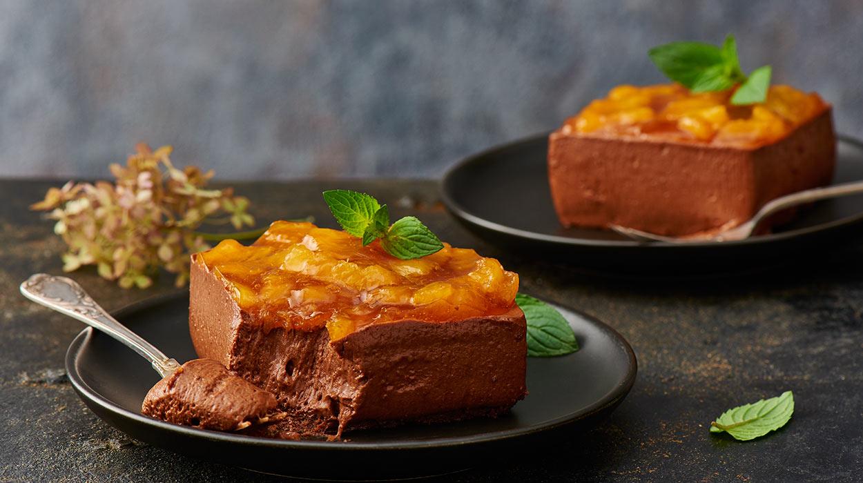 Deser czekoladowo-pomarańczowy