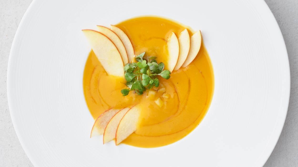 Zupa z dyni i jabłek