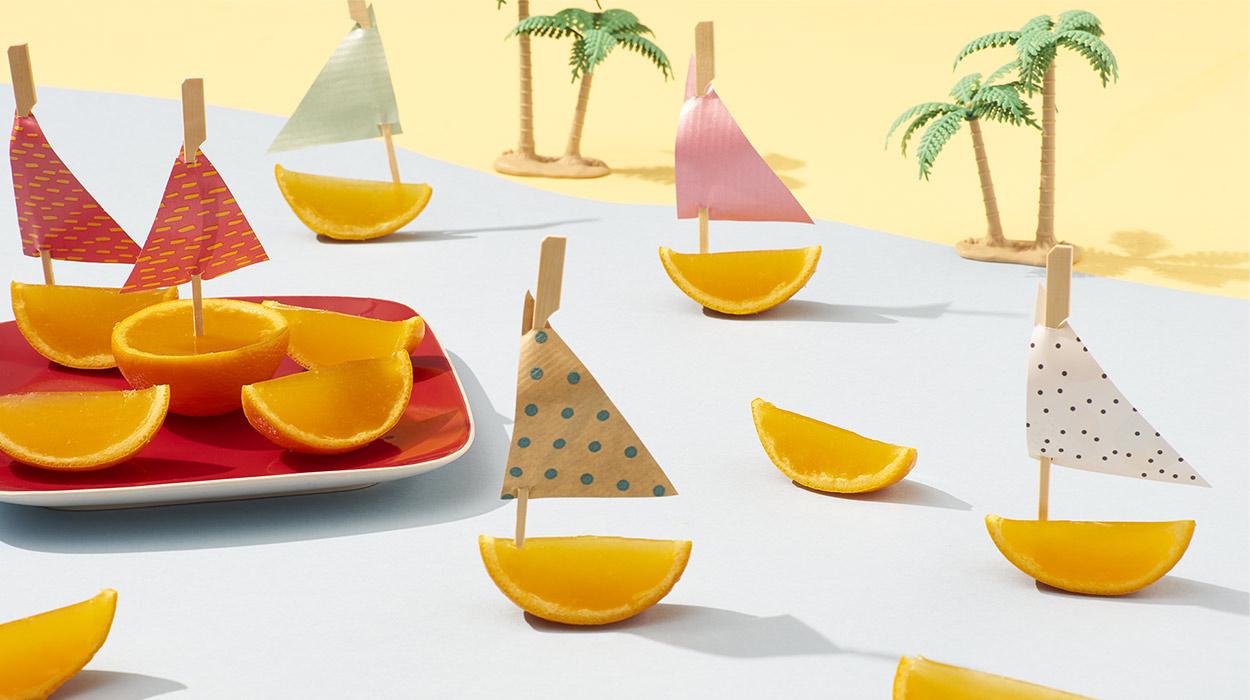 Galaretki pomarańczowe w skórce