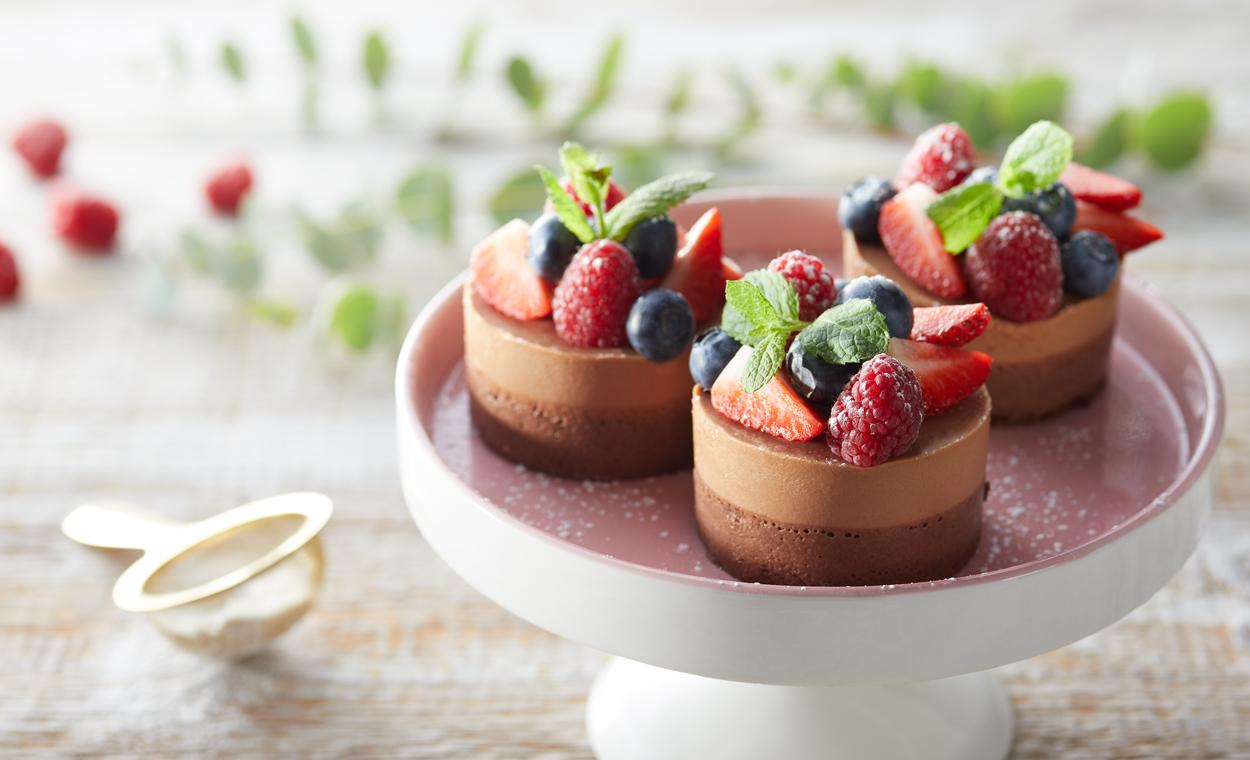 Minitorciki czekoladowo-migdałowe
