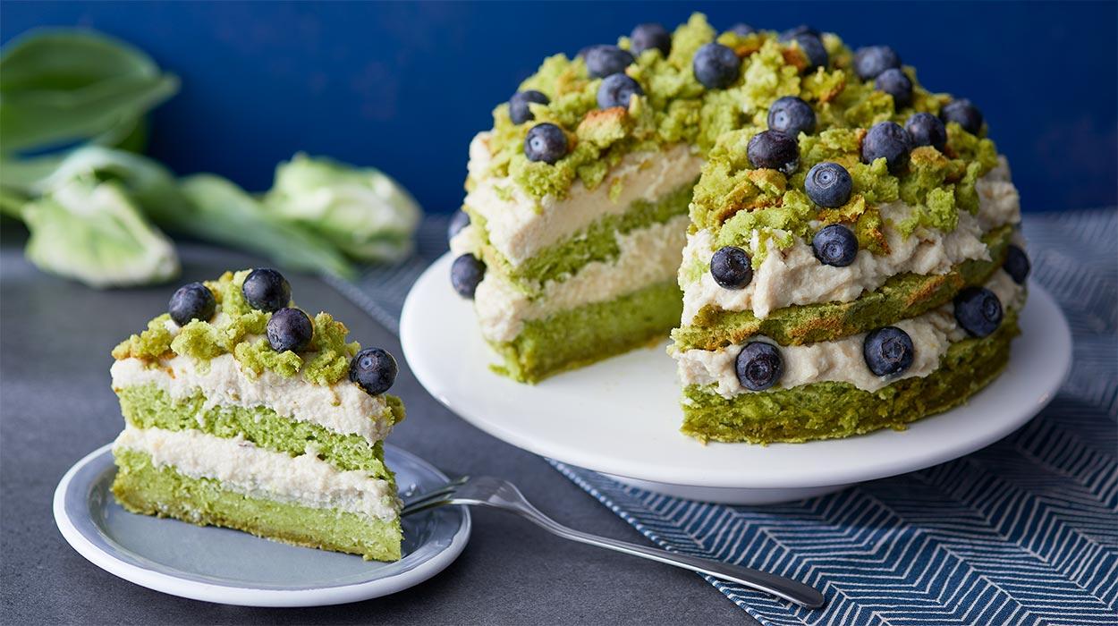 Wegańskie ciasto Leśny Mech