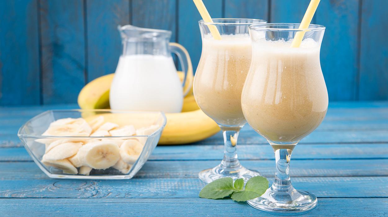 Bananowa piña colada bez alkoholu