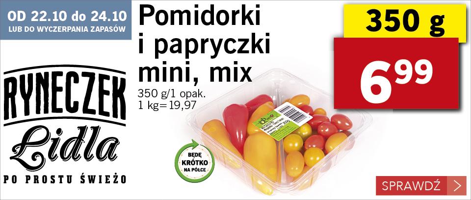 pomidorki i papryczki mini