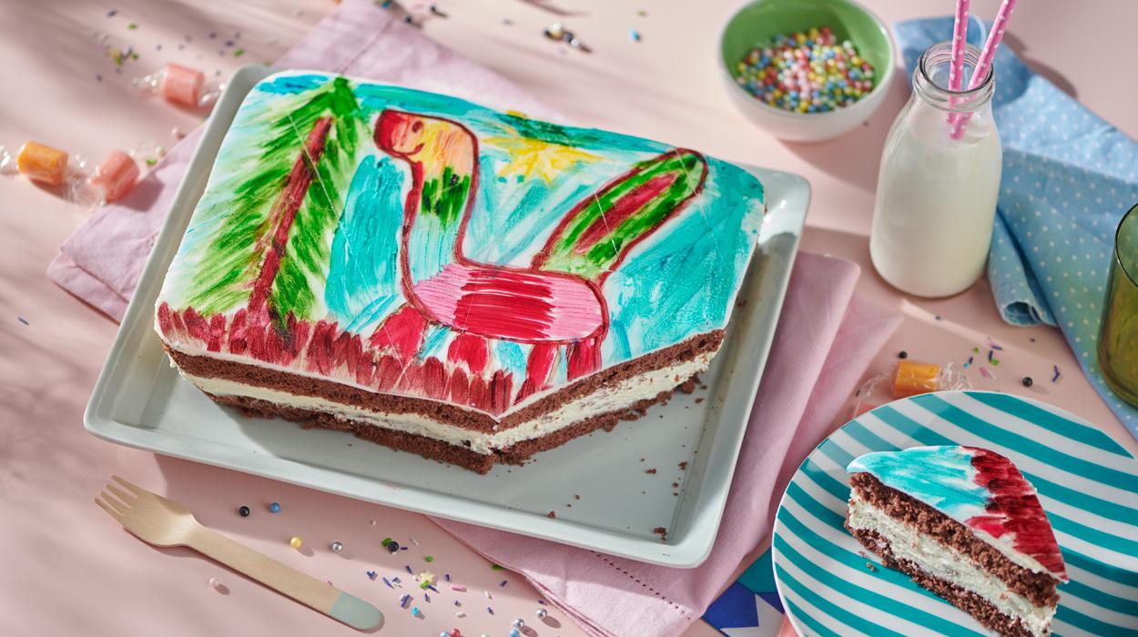Kakaowo-śmietankowe ciasto puzzle