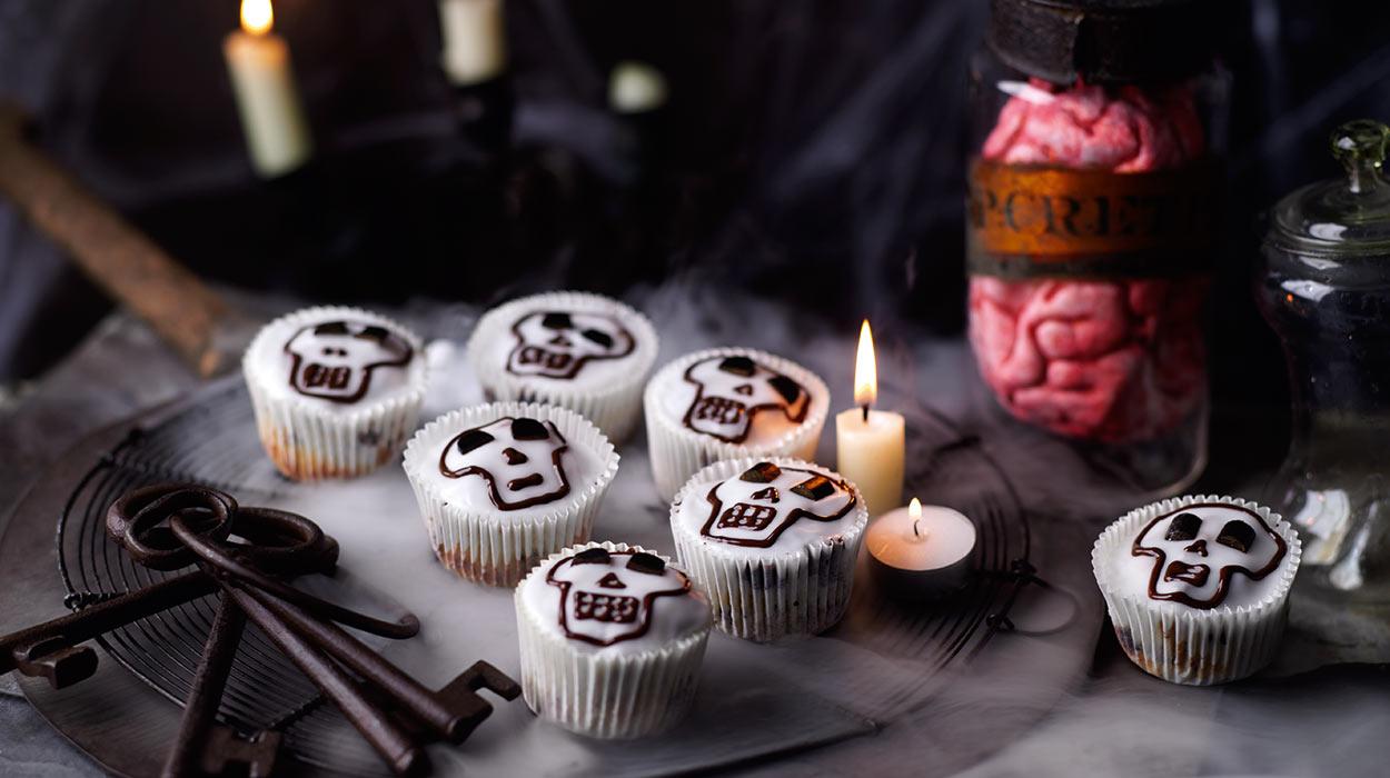 Halloweenowe muffiny z czekoladą