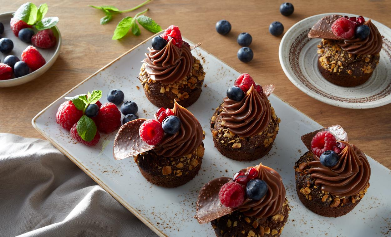Czekoladowe muffinki z kwasem chlebowym