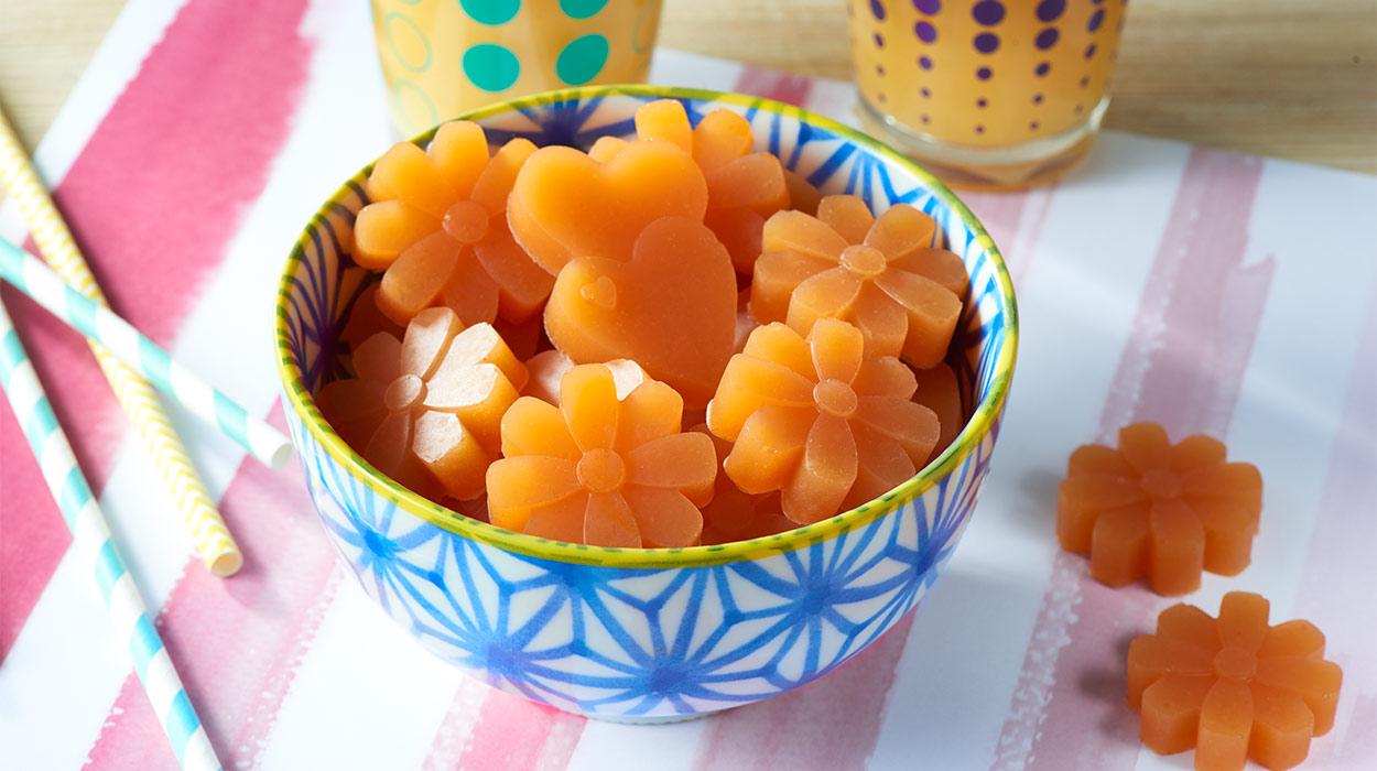 Żelki pomarańczowo-marchewkowe