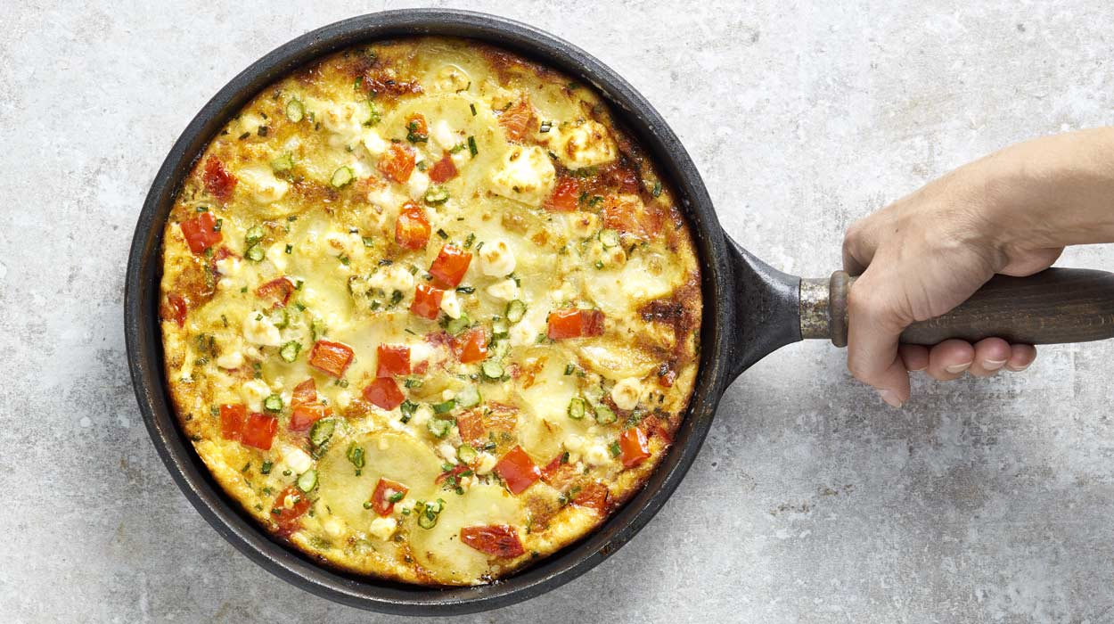 Tortilla de patatas z warzywami