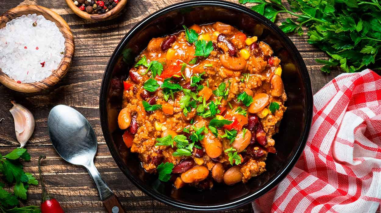Chili sin carne z mięsem wegańskim