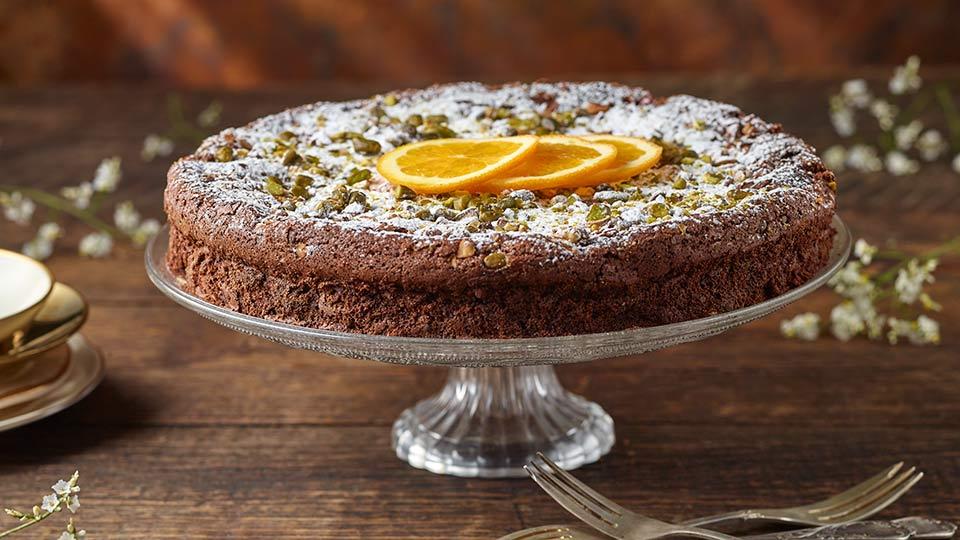 Hiszpańskie ciasto czekoladowe z pomarańczą