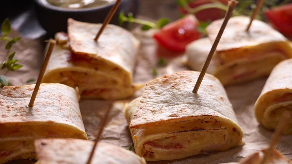 Zapiekane roladki z tortilli