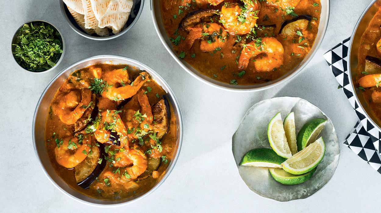 Krewetki w czerwonym curry