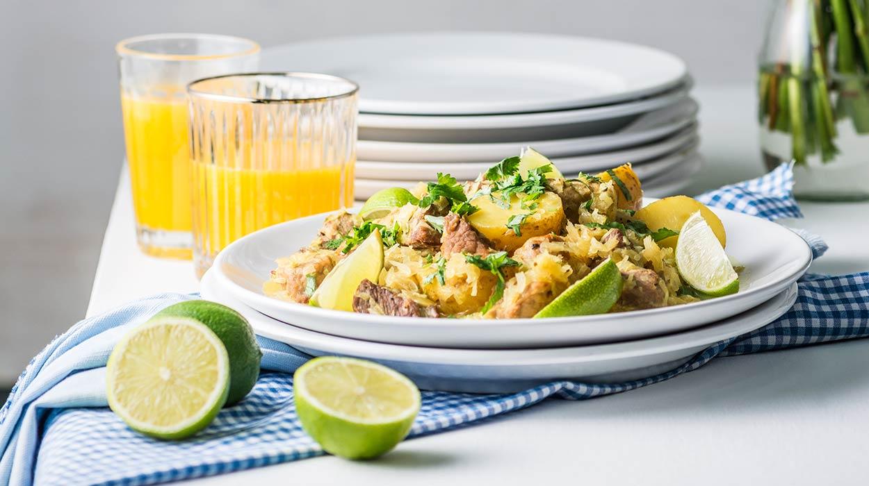 Szynka w kapuście curry