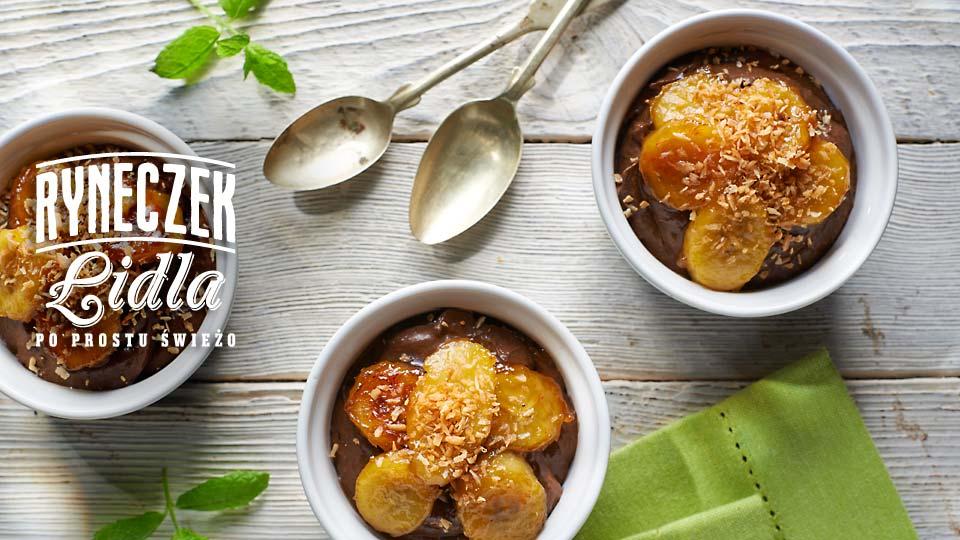 Wegański mus czekoladowy z awokado i bananami