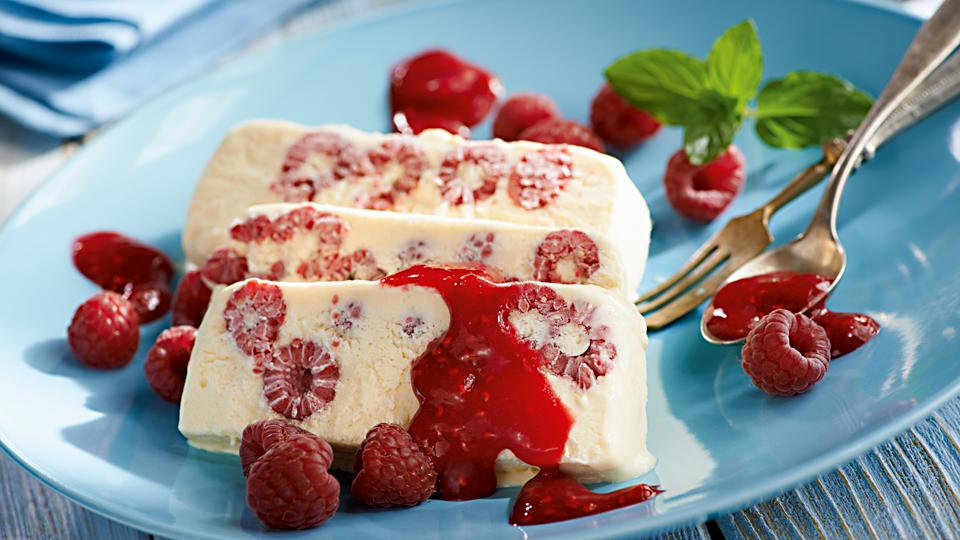 Parfait waniliowe z malinami (domowe lody)