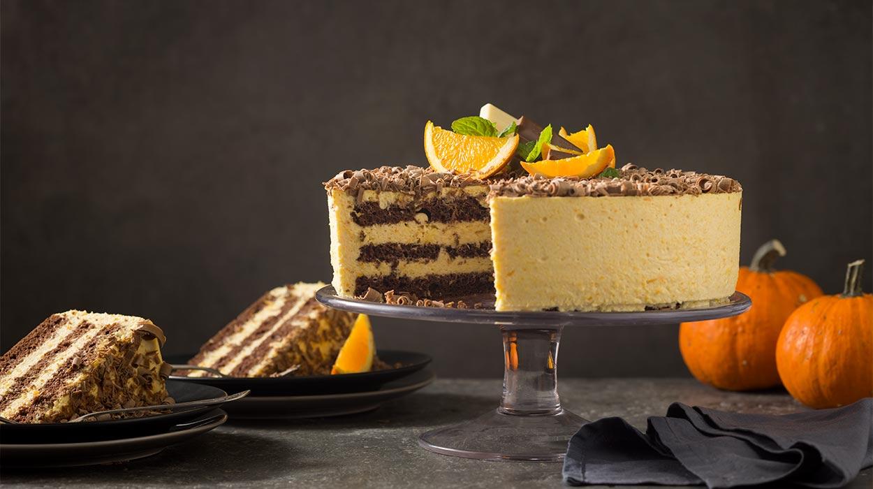 Tort dyniowo-pomarańczowy