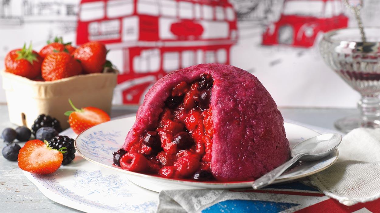 Pudding z letnich owoców
